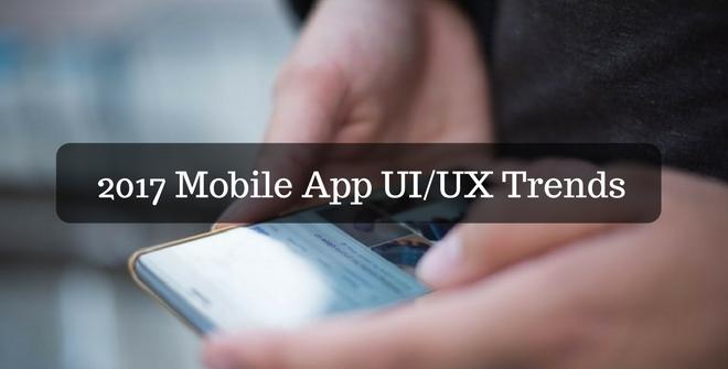 2017 mobile App UI